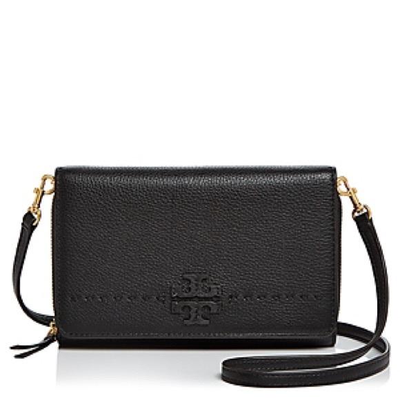 e55d538a284 Tory Burch Mcgraw Flat Wallet Crossbody Handbag